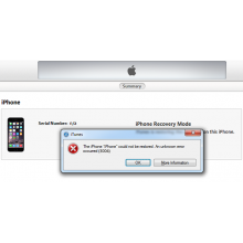 iTunes Error Number Explanations