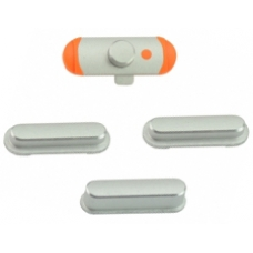 iPad Mini Power Volume Mute Switch Button Set Silver