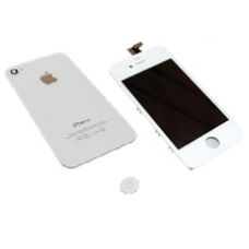 iPhone 4S White Conversion Kit (Rear Glass Cover, LCD Screen, Home Button)