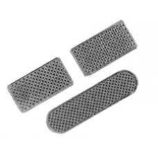 iPhone 4 Speaker Microphone Earpiece Anti Dust Chrome Mesh Set