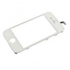 iPhone 4 Touch Screen Digitizer & Outer Frame (White)