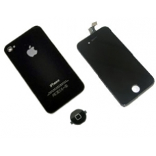 iPhone 4S Black Conversion Kit (Complete Screen, Rear Glass Cover, Home Button)