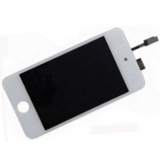 iPod Touch White LCD Screen & Digitizer with White Glass Panel 4th Gen