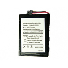 Mio 168 DigiWalker Replacement Battery 1300 mAh